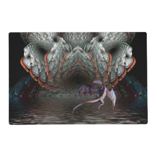 Purple Dragon Flies in front of a illuminated cave Placemat