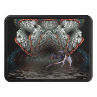 Purple Dragon Flies in front of a illuminated cave Tow Hitch Cover