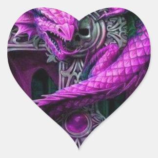 Purple Dragon Heart Sticker