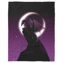 Purple Dragon Large Fleece Blanket