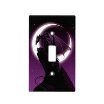 Purple Dragon Light Switch Cover