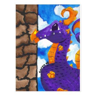 Purple Dragon Postcard