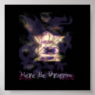 Purple Dragon Poster