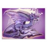 Purple dragon print photo art