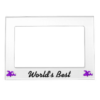 Purple Dragon Sleeping png Magnetic Picture Frame