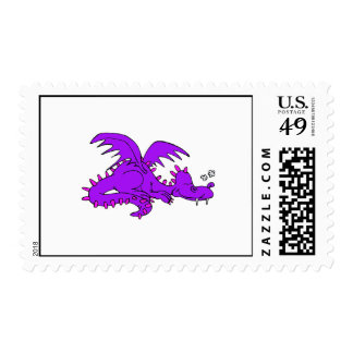 Purple Dragon Sleeping.png Postage Stamp