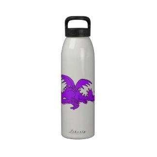Purple Dragon Sleeping png Reusable Water Bottles