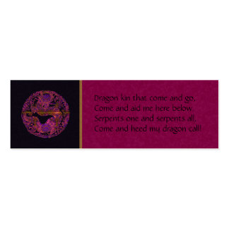 Purple Dragon Spell Card Mini Business Card