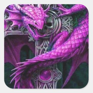 Purple Dragon Square Sticker