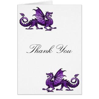 Purple Dragon Thank You Card