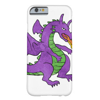 purple dragon throwing flames barely there iPhone 6 case