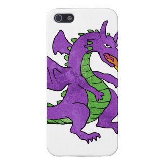 purple dragon throwing flames case for iPhone SE/5/5s
