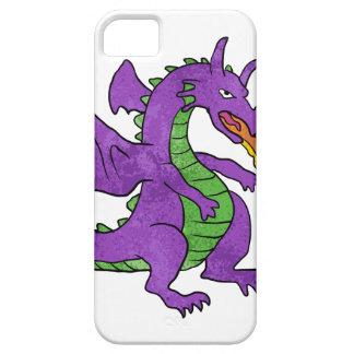 purple dragon throwing flames iPhone SE/5/5s case