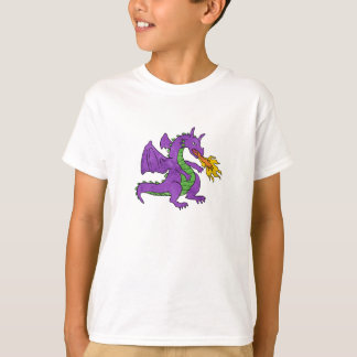 purple dragon throwing flames T-Shirt