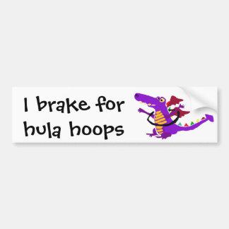 Purple Dragon using Hula Hoop Car Bumper Sticker