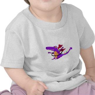 Purple Dragon using Hula Hoop T Shirt