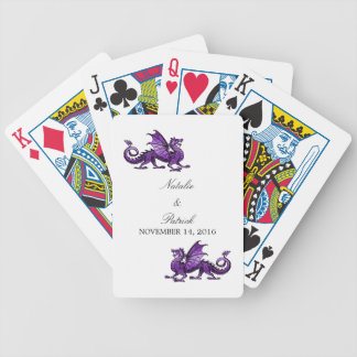 Purple Dragon Wedding Playing Cards