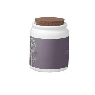 Purple Dragonflies Jar Candy Jars