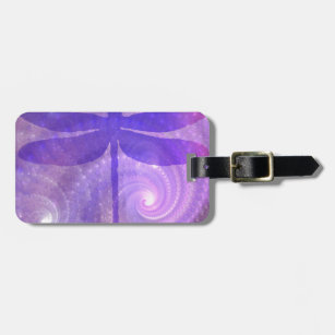 Purple Dragonfly Bag Tag