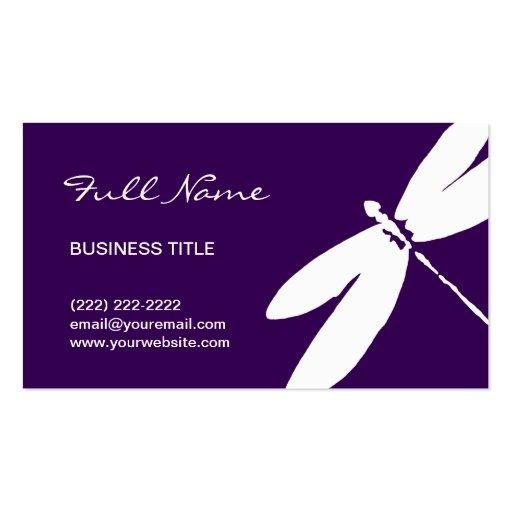 Purple dragonfly business card designs modern zazzle for Dragonfly business cards