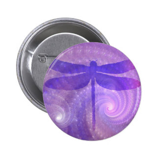 Purple Dragonfly Button