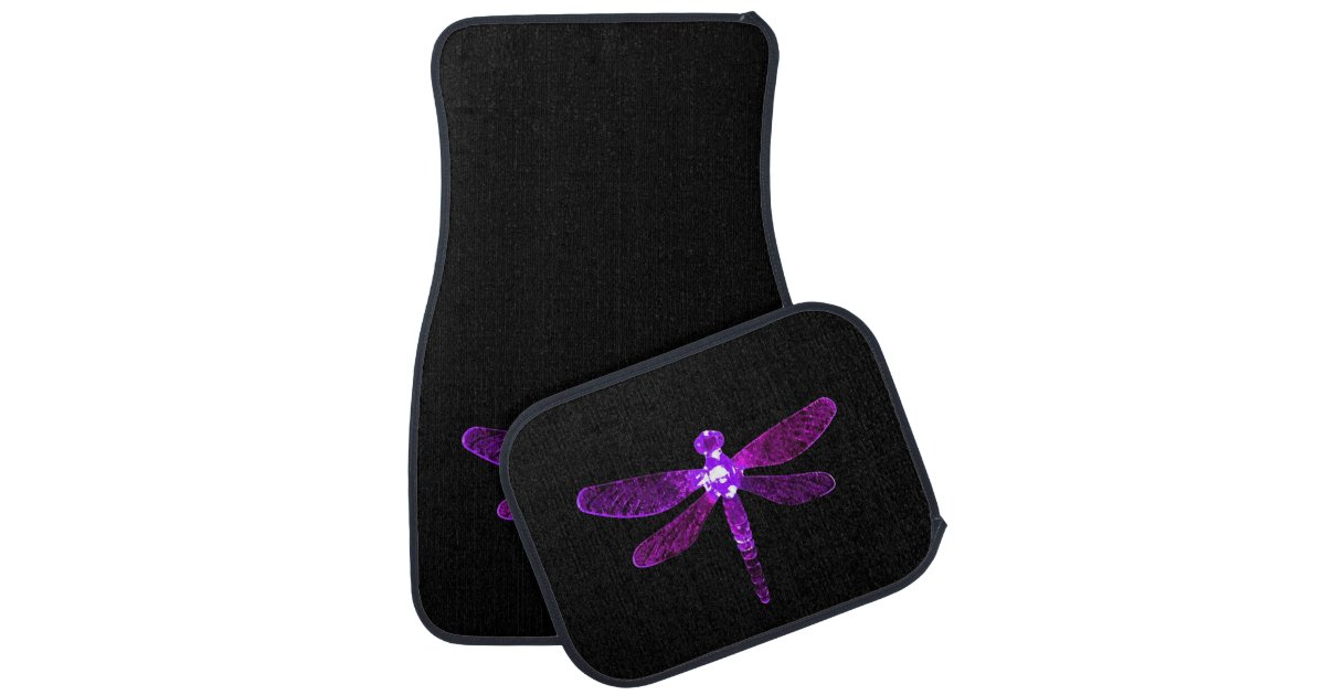 Purple Dragonfly Car Mats