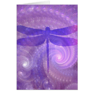 Purple Dragonfly Card