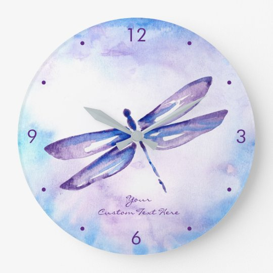 Purple Dragonfly Clocks And Unique Home Gifts Zazzlecom