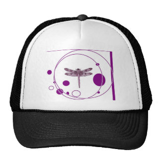 Purple Dragonfly Contemporary Design by Sharles Hat