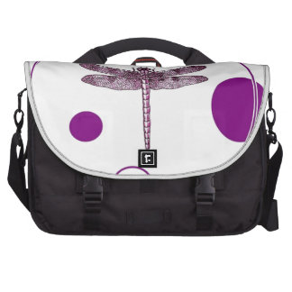 Purple Dragonfly Contemporary Design by Sharles Bag For Laptop