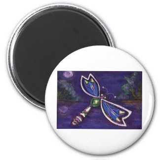 Purple Dragonfly Design Magnet