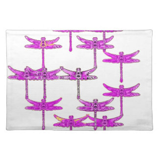 Purple Dragonfly Flight by Sharles Place Mat