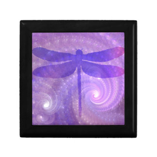Purple Dragonfly Jewelry Box