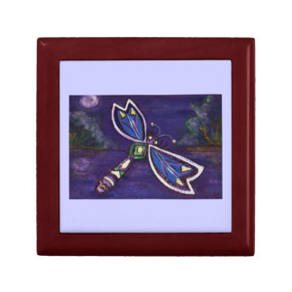 Purple dragonfly Jewelry Gift Box