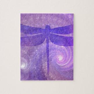 Purple Dragonfly Jigsaw Puzzle