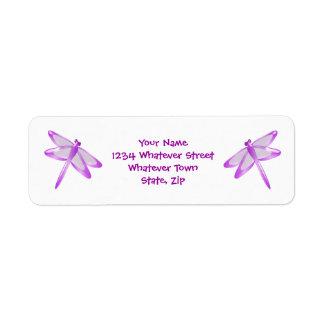 Purple Dragonfly Label