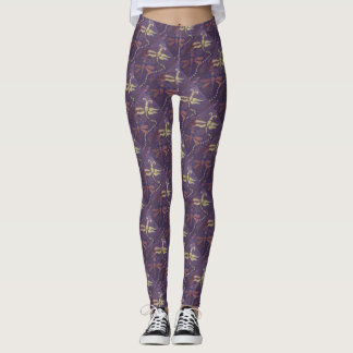 purple dragonfly leggings