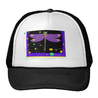 Purple Dragonfly Modern design by Sharles Mesh Hats
