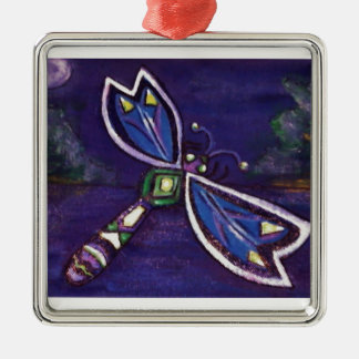 Purple Dragonfly Ornament