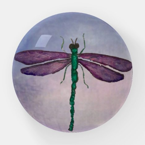 Purple Dragonfly Paperweight