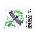 Purple Dragonfly Stamp at Zazzle