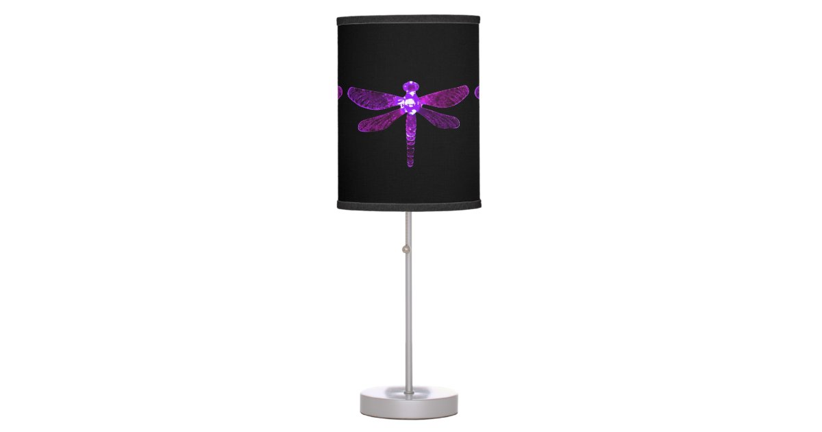 Purple Dragonfly Table Lamp