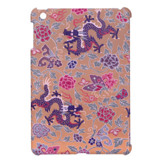 Purple Dragons Pink and Purple Flowers Pattern Cover For The iPad Mini
