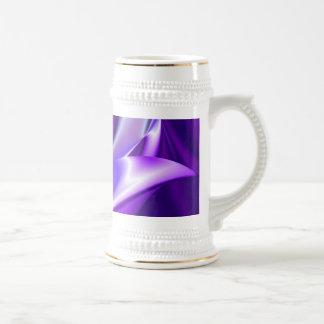 Purple Dream , Abstract Fantasy Rainbow-Art Beer Stein