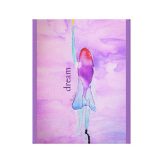Purple Dream Watercolor Painting Wrapped Canvas