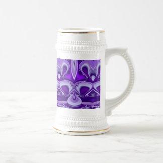 Purple Dreams , Abstract Fantasy Rainbow-Art Beer Stein