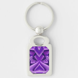Purple Dreams , Abstract Fantasy Rainbow-Art Keychain