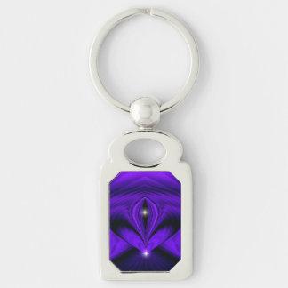 Purple Dreams , Abstract Fantasy Rainbow-Art Keychain