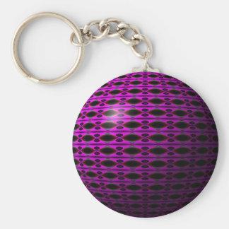 Purple Dreams Basic Round Button Keychain
