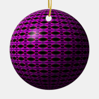 Purple Dreams Ceramic Ornament